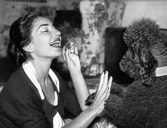 Maria Callas. Poodles were the fad dogs of the 1950's