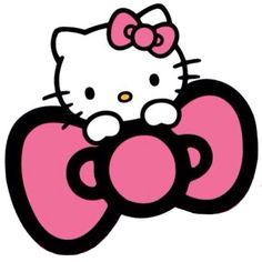 Hello Kitty Bow-cute and simple-love pink-wear bows-love hello kitty-girly attitude-girly style