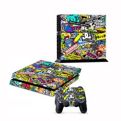 Sticker Skin for PS4 PlayStation 4 Console Free Controller Cover Decal 106 | eBay