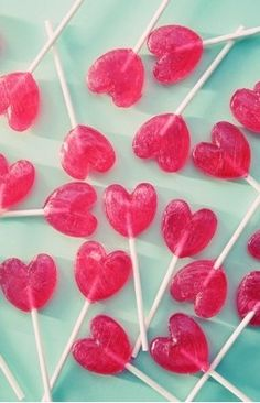 Paletas de forma corazón | Heart-shaped lollipops