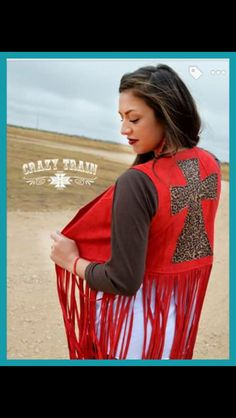 Love this Wild Nights Red Vest from #crazytrainclothing !! #turquoiseleopardboutique #checkitout #love