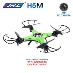 JJRC H5M 2.0MP HD Camera Music Function 2.4G One Key to Roll/Return Headless Mode 3D Flip RC Quadcopter RTF - Green