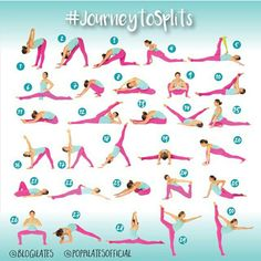 Yoga for flexibility challenges 30 Days & 30 Stretches to Splits! -I may not do the splits but these look like some great stretches! Yoga Fitness, Sport Fitness, Fitness Workouts, At Home Workouts, Health Fitness, Fitness Jokes, Ballet Fitness, Ladies Fitness, Fitness Motivation