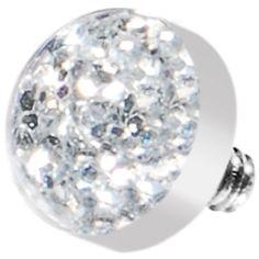 Clear Glitter Dome Dermal Top