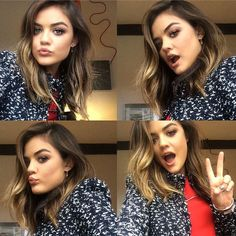 Lucy Hale Gets a Haircut Hours Before the 2014 CMA Awards—Check It Out!  Lucy Hale, hair, selfies