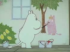 All things moomin. Cute Characters, Cartoon Characters, Moomin Wallpaper, Moomin Valley, Tove Jansson, Vintage Cartoon, Aesthetic Anime, Cute Art, Illustration