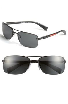 Prada 59mm Rectangle Sunglasses available at #Nordstrom