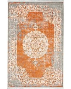 Unique Loom Unique Loom Arcadia Terracotta Area Rug 313 from Wayfair | BHG.com Shop