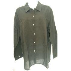 Dark green button down long sleeves shirt Dark green button down long sleeves shirt. Perfect for work. In excellent condition. NWOT.  #neverworn #nwot #lizclaiborne Liz Claiborne Tops Button Down Shirts