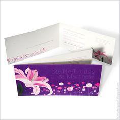 lily wedding invites