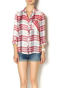 Super cute and uber sof this red and white long sleeve plaid top is the perfect wardrobe addition.   Plaid Long Sleeve Top by Staccato. Clothing - Tops - Casual Clothing - Tops - Long Sleeve Clothing - Tops - Blouses & Shirts Utah