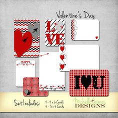 Valentines Day Kit for Project Life/Pocket Pages :http://michellejdesigns.com/valentines-day-kit-project-lifepocket-pages/