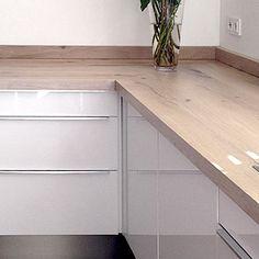 Afbeeldingsresultaat voor randafwerking keukenblad hout