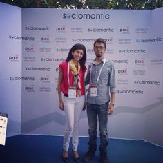 With Swati from @Cashkaro #adtechin