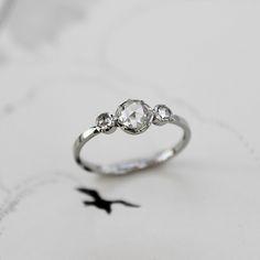 SOLD+platinum+rose-cut+diamond+trilogy+ring+(code+SK002)