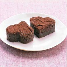Chocolate brownie hearts #marthastewart #valentine #dessert