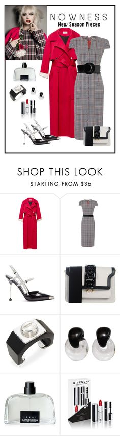 """Amanda Wakeley Prince Of Wales Check Dress"" by romaboots-1 ❤ liked on Polyvore featuring Temperley London, Amanda Wakeley, Prada, Marni, A.L.C., Monies, COSTUME NATIONAL, Givenchy and Yves Saint Laurent"