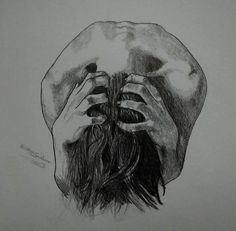 Ideas For Sad Art Photography Grief Sad Drawings, Dark Art Drawings, Pencil Art Drawings, Art Drawings Sketches, Dark Artwork, Arte Horror, Horror Art, Horror Drawing, Emotional Drawings