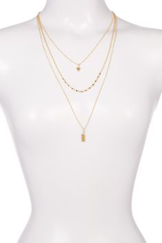 3 Row Faceted Pendant Necklace by Stephan & Co on Pearl Necklace, Pendant Necklace, Nordstrom Rack, The Row, Pearls, Jewelry, Products, Fashion, String Of Pearls