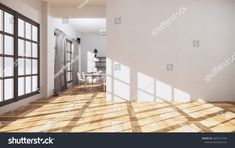 Empty Room Interior Wooden Floor On ภาพประกอบสต็อก 1681791742 Empty Room, Wooden Flooring, Room Interior, Furniture, Home Decor, Wood Flooring, Hardwood Floors, Parquetry, Interior Design