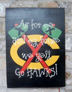 My house yells go Blackhawks by DRHomemade on Etsy