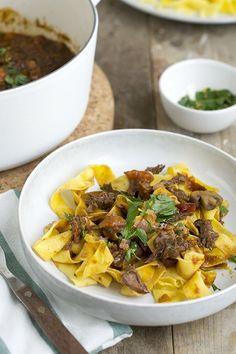 Tagliatelle met Italiaans stoofvlees - Brenda Kookt!