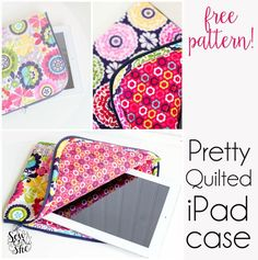 Remember this? My Pretty Quilted iPad case that I promised you a sewing pattern for so so long ago? Well I finally have it ready!  When I was designing this project I was inspired by all of the Vera B
