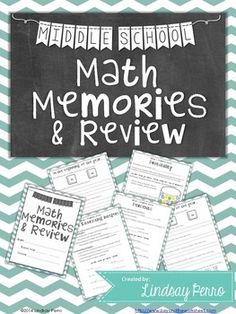 This 13 page {editable} booklet is a fun way to review the main topics learned throughout the school year in the middle school math classroom. There is a page devoted to beginning of year feelings about math, end of year feelings about math, integers, fractions, percents, solving equations, the Pythagorean Theorem, scientific notation, probability, and order of operations. Answer keys are included.