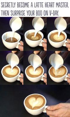 How to make a heart in someone's coffee