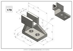 Cad 3d, Orthographic Drawing, Cad Drawing, Technical Drawing, 3d Modeling, Autocad, My Drawings, Geometry, Exercises