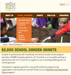 Apply each fall for our $2,000 School Garden Grant Program.