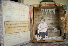 OOAK Altered Cigar Box by QueenBe1, via Flickr
