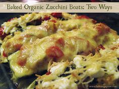 The Rising Spoon: Monthly Veg-ucation: Baked Organic Zucchini Boats Two Ways