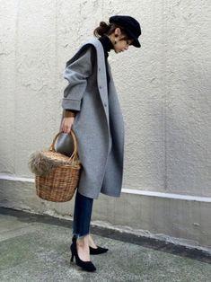 Grey Fashion, Fashion Pants, Love Fashion, Korean Fashion, Fashion Models, Winter Fashion, Fashion Outfits, Womens Fashion, Fashion Design