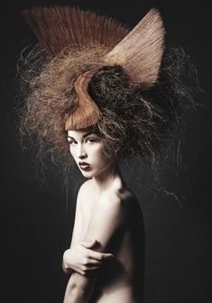 Just love this creation - ultimately gothic hair! Fabulous  Www.ukhairdressers.com