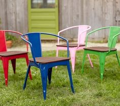 Colorful Outdoor Seating for Kids