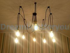 Spider chandelier 3-12 Pendant light chandelier Octopus