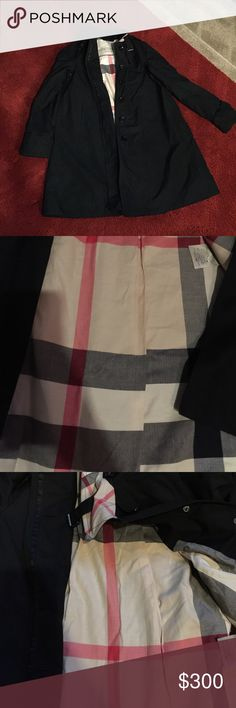 Burberry Trench Coat Size 4 Worn a few times line through the label to prevent store returns great price Burberry Jackets & Coats Trench Coats