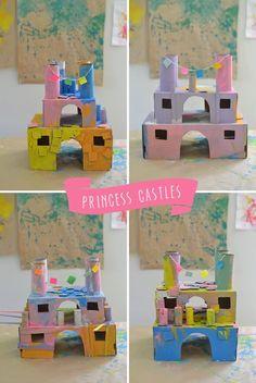 25 brincadeiras com caixa de papelão - castelo de princesa