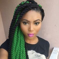 Yarn twists Green with envy