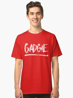 #Gadgie #Newcastle slang design. Classic fit, ethically sourced t-shirt, also available in many more styles of #hoodies and #tshirts #redbubble #slang #dialect #geordie