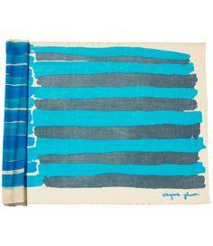 lightweight merino wool shawl multistripe blue – Virginia Johnson