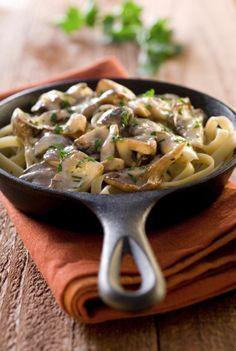 Creamy Vegan Mushroom Fettucini