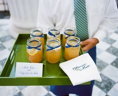 It seems jam jars are no longer just for casual bench mexican food   this Wedding idea takes them up a notch