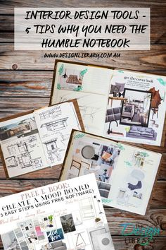 Interior Design Tools - 5 Tips Why You Need The Humble Notebook - Create Your Design Story | designlibrary.com.au