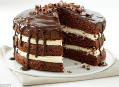 Expectation vs Reality: When Ms Harris's sister ordered a 'chocolate cake' she probably meant something looking more like this one
