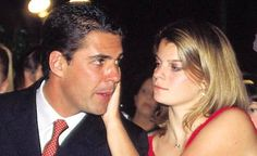 Athina Onassis with her husband, showjumper Alvara de Miranda Neto. She is a big disappointment to her Greek relatives, having no interest in business. Intellectually deprived, by her father. Spoiled, living off Onassis wealth, with no respect, for his hard work. Childlike parasite.