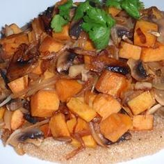 Quinoa with Sweet Potato and Mushrooms Allrecipes.com