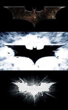 The Dark Knight Trilogy logos