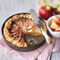 Toffee apple tart. For the full recipe, click the picture or see www.redonline.co.uk
